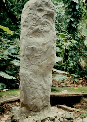 4c - Olmec stele artifact, Ningishzidda's 1st civilization established in the Yucatan