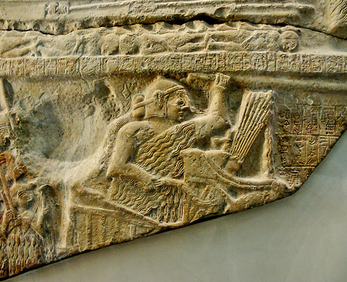 4h - Eannatum's victory stele, he stated Ninurta helped him in battle, Ninurta's king in his city of Lagash, protected in battle, etc. by Ninurta