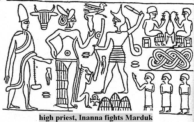 4e - Inanna wages Pyramid wars against Marduk & his sons