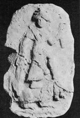 4e - Mesopotamian alien giant goddess Inanna, with what became to be the Liberty Torch, but here it looks like the 3-headed alien weapon of Nergal