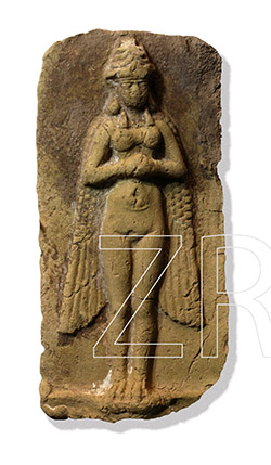 "winged Inanna illustrated thusly to depict her capability of flying, not by eagle wings, but by alien technology not understood by early mankind, they copied historic events down the best way they knew, & took the immense time & cost to carve the scenes into stone, lasting through the thousands of years of our history, now long forgotten, but finally being remembered, SEE HISTORY CHANNEL SERIES ""ANCIENT ALIENS"""