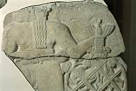 """4i - Ninurta, stele of vultures eating the enemy, Ninurta with mighty alien technology that """"casts a wide net over his enemy"""", assuring his desired outcomes of certain battles"""