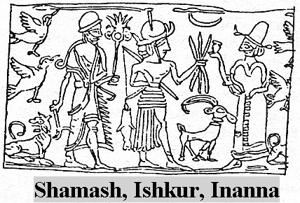 4k - Utu - Shamash, uncle Ishkur, & twin sister Ishtar - Inanna, giant alien god Utu was known all over the world by many names; Shamash, Ningublaga, Numucda, Ba'al, Allah, etc, throughout all of man's history, & including today, Utu's symbol today is the moon crescent, inherited by him when his father Nannar fell ill & retired from sight
