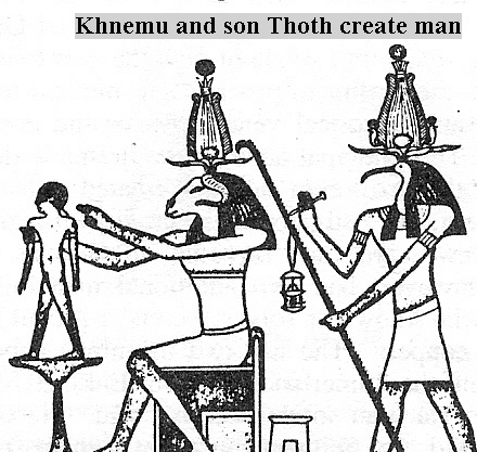 "4l - Khnemu-Enki & Thoth fashion ""modern man"", scientists Ningishzidda, Ninhursag, & Enki have done the impossible, skipping a huge link to man's evolution, this story was well known in Ancient Egypt"