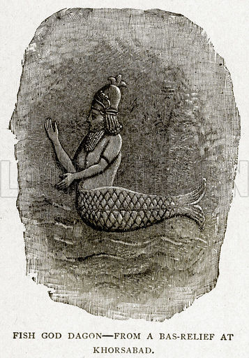 fish god Dagon, Dagon is hard for me to pin down, possibly Enki due to his splashdown arrival on Earth into the Persian Gulf, he put on a wet suit, & swam to shore