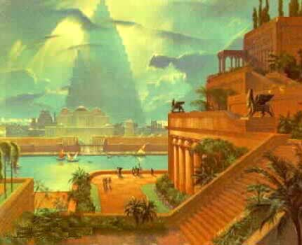 5 - re-creation of Babylon's Hanging Gardens, one of the pride & joys of Marduk, the king, & the earthlings of the greatest city of the time, all alien giant gods were welcome