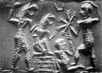"5 - scene from the past when Utu protected Dumuzi, Dumuzi captured by demons & later freed by Utu, SEE DUMUZI""S TEXTS"