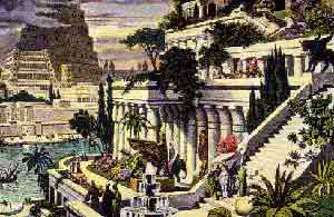 5a - re-creation of Babylon's Hanging Gardens, one of the pride & joys of Marduk, the king, & the earthlings of the greatest city of the time, all alien giant gods were welcome