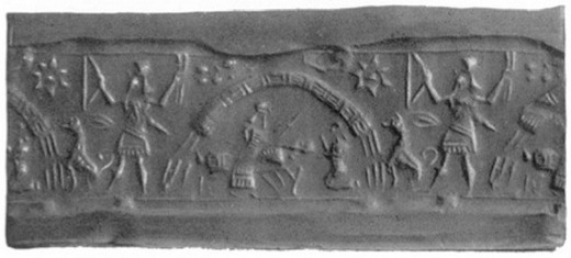 """5a - Ninurta, Bau & son Damu, guard dog, giving medical treatment, the doctors of gods & the """"black-headed"""", the name given to the earthling workers, created by them to do the work instead of the gods"""