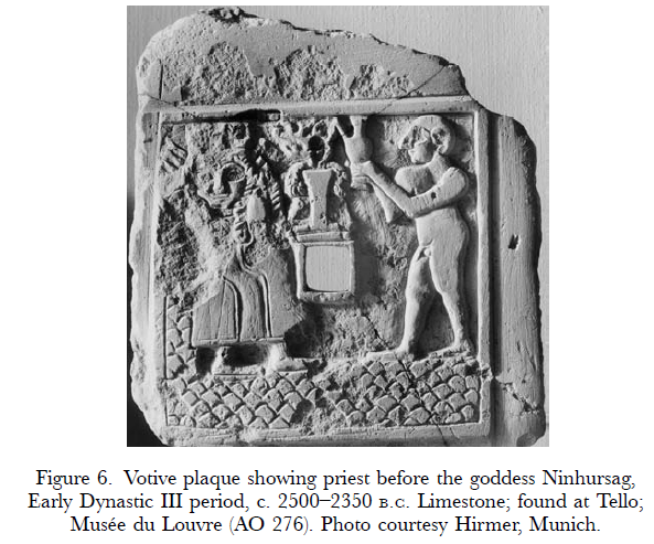 5a - Ninhursag served drinks by early high-priest