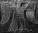 5a - Ninurta's symbol, Byzantine Double-Headed Eagle, symbolizing when the giant alien gods came down from Heaven & establish a colony on Earth, then created man in their image, & in their likeness, to do the work for the gods