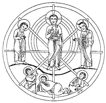 5b - 13th century, 8-pointed star, Chartres Cathedral, France, Anu's 8-pointed star symbol used by Christians & Masons depicting God