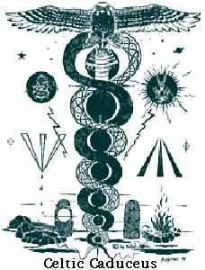 5b - Celtic Caduceus symbol of Ningishzidda, symbols of the gods are heavily used by governments & their agencies, places of worship, large corporations, secret societies, medicine, physics, astronomy, astrology, & on, & on, they can be seen most everywhere