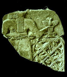 """5c - Ningirsu of Lagash  grasps the enemy in a net, Ninurta """"casts a large net"""" over the land, capturing the enemy forces, earthlings used a pawns in the gods' wars of egoes"""