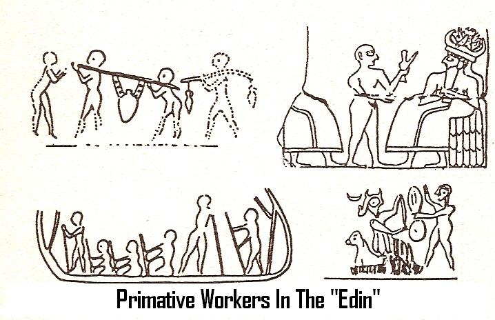 "5d - early ""modern man"" performed the work for the giant alien gods, the gods taught earthlings everything they knew, & put them to work immediately as replacement workers for the gods"