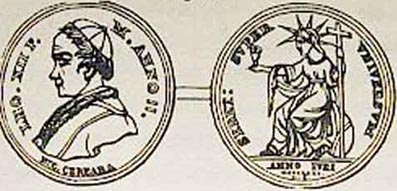 5f - Inanna on a Vatican coin, alien giant Inanna / Columbia / Liberty all throughout history