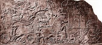 5h  - Ashur protecting king in the middle of a fierce battle, these artefacts are direct contradictions to belief systems today pushed upon the common earthlings, the elite ruling classes know all about the ancient giant aliens, some groups want these artefacts hidden, some groups deny & put aside them as myths, & Radical Islam is shamefully destroying them for fear of the ancient & current elite knowledge could destroy their obsolete diciplines over their masses