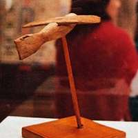 5c - ancient Egyptian artifact of an air-plane model, once displayed in Egyptian museum, now shamefully destroyed or stolen by Radical Islam (Muslim Brotherhood)