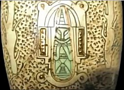 5n - Mayan multi-stage rocket with the shem - command module on top, ready for lift-off, the giant alien gods established the Mayan civilization as well as all the other great civilizations, Mayans were well aware of them