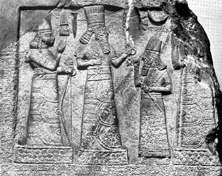 6 - giant mixed-breed governor of Mari stands before giant gods Adad & Inanna, Nannar's moon crescent, ancient artefacts of the gods & giant kings are shamefully being destroyed by Radical Islam, attempting to eliminate historical evidence of our past contradictory to the 7th century teachings of their prophet