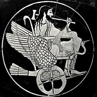 6a - flying Greek god Hades - Nergal in his sky-chariot, some ancients called the vehicle a sky-ship, sky-boat, sky-chariot, flying carpet, dragon, etc., etc., depending upon the individual culture