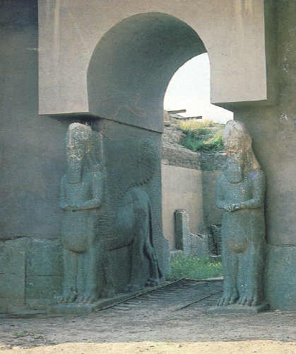 6a - Shedu artefact of Nimrud, Islamic group ISIS dynamited artefact items in Nimrud, & museum artefacts were shamefully destroyed by them, attempting to keep people ignorant of our historical past that contradicts their belief system