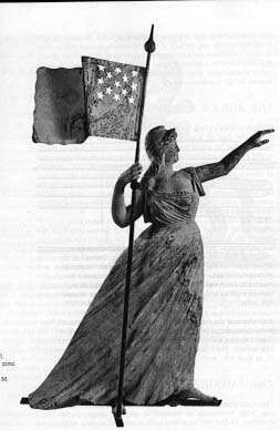 6c - Columbia, Goddess of the Revolutionary War, same thing with the French Revolution of the late 18th century