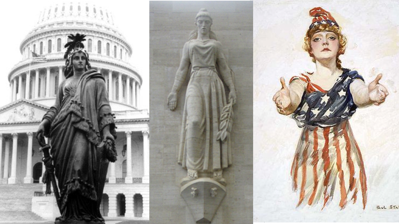 6e - Columbia, the giant alien Inanna / Columbia / Liberty all throughout history, determining all great civilizations, governments, & religions