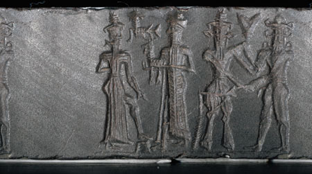 """6e - Utu, Nannar with his sheep from Ur, Enkidu, & Gilgamesh, mixed-breed king of Uruk, ruled 126 years, father Lugalbanda ruled 1,200 years, the gods offspring were bigger, stronger, smarter, & lived longer than earthlings, """"the Nephilim were on the Earth in those days and also afterward, when the sons of God went to the daughters of men and had children by them,. They were the Heroes of old, men of renown"""", the """"mighty men"""", mixed-breed """"giants"""", the 1st kings on Earth"""