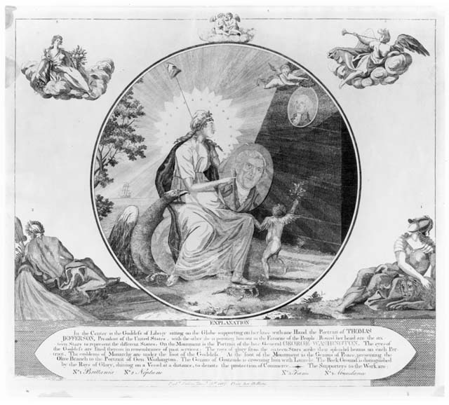 6h - giant alien goddess Columbia & General George Washington, leading general of the American Revolutionary Army