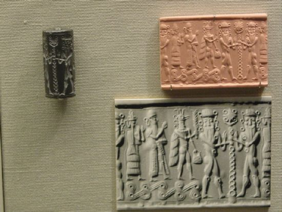 "6ha - scene from the tale ""Epic of Gilgamesh"", SEE GILGAMESH TEXTS"