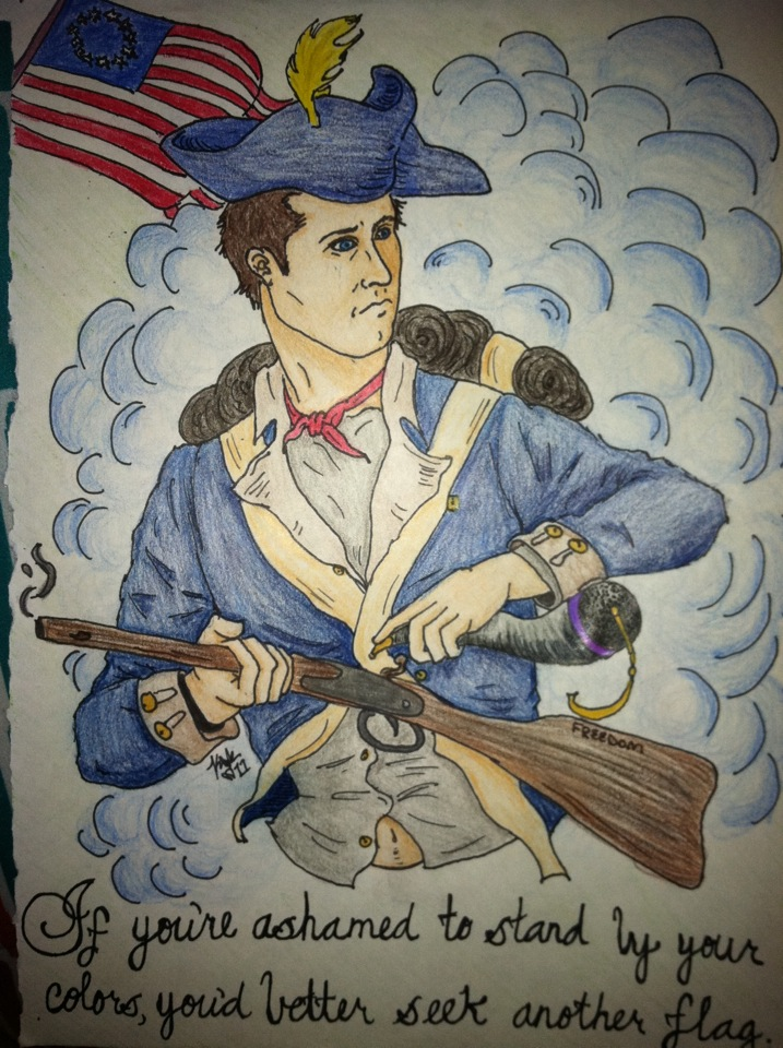 """6i - """"if you're ashamed to stand by your colors, you'd better seek another flag"""", Revolutionary War"""