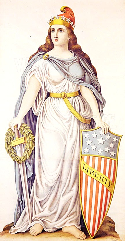 6j - Columbia, goddess of the Revolutionary War, Goddess of War, Goddess of Love, & now Goddess of Liberty