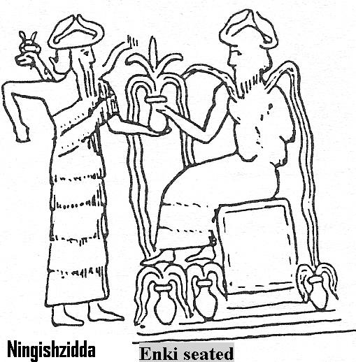 6k - Ningishzidda & Enki, Ningishzidda & father Enki are responsible with Ninhursag for developing modern man, all three DNA specialists