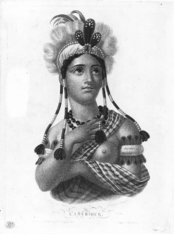 7 - goddess Columbia as an American Indian