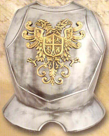 7 - Middle Ages armored breastplate, of a time when the giant alien gods actually lead their kings in battle, assuring the victory every time