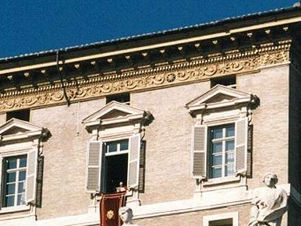 7 - Papal Palace, with the 8-pointed star symbol of Anu, later given to Inanna the Goddess of Love & Venus the Planet of Love
