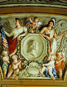 7a - Indian princess & Columbia, the ceiling of the US Capitol, secret societies are well aware of the giant alien gods on Earth