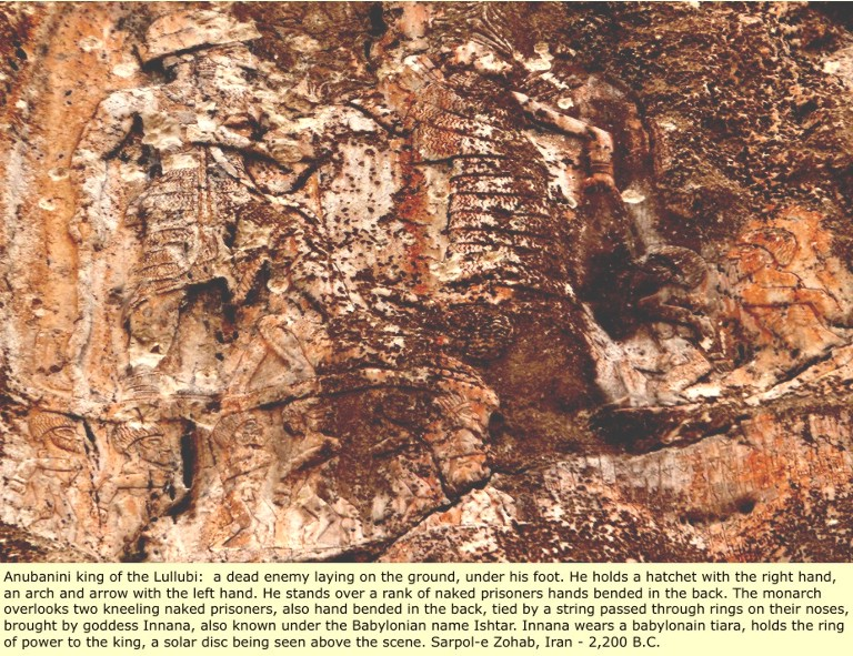 7b - Utu & Inanna with earthling prisoners under foot, artefacts of the alien giant gods are being destroyed by Radical Islam, attempting to eradicate any ancient knowledge long forgotten, that directly contradicts the 7th century teachings of their prophet