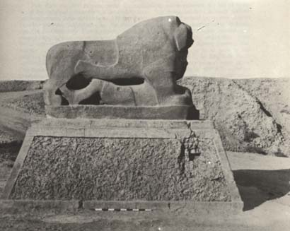 """7c - Babylonian artefact of a lion, Leo constellation, the time of Inanna's war moves to dominate as supreme on Earth Colony, artefacts of the alien giant gods & their giant mixed-breed offspring that lived a thousand years & more, (as did the Biblical heroes of old), are being shamefully, idiotically, & ideologically destroyed by Radical Islam attempting to hide the ancient historical truth of man's beginnings & the gods who have been existing on Earth longer than we have as """"modern man"""""""
