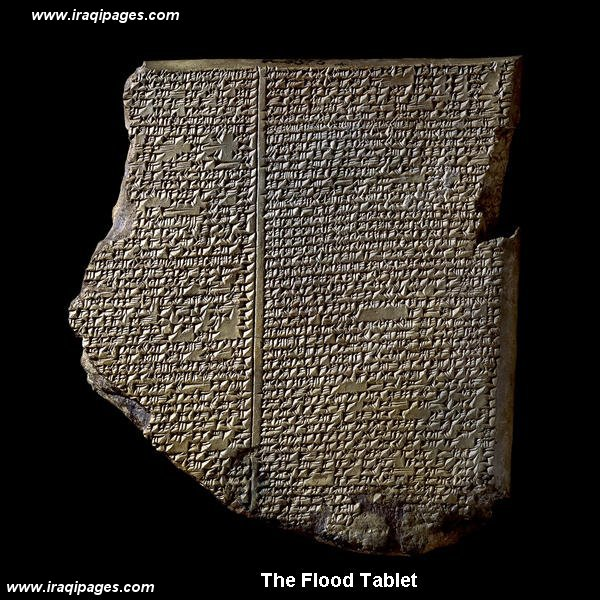 7d - Babylon Flood Tablet, the historical event of the Great Flood was remembered by every ancient civilization around the world, & written down by many of them