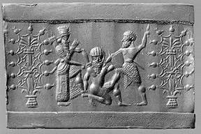 "7d - Enlil condemns Enkidu to death for killing Humbaba, from the tale ""Epic of Gilgamesh"",  SEE GILGAMESH TEXTS"