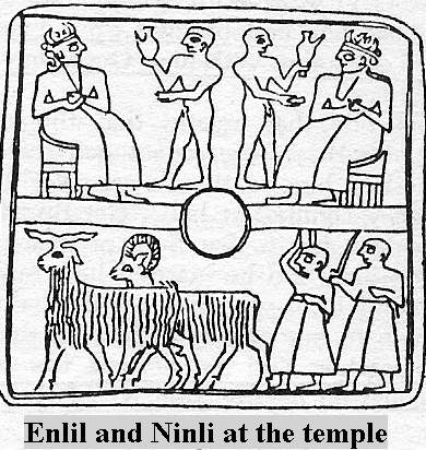 7d - alien giant gods Enlil & Enki in the Edin with early modern earthling workers, tending to the needs & desires of the gods