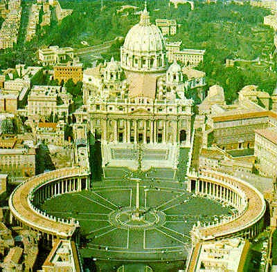 7d - Vatican St. Peter's Basilica with the 8-pointed star symbol of Anu, later given to Inanna the Goddess of Love & Venus the Planet of Love