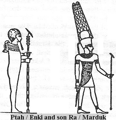 7e - Ptah - Enki & son Marduk - Ra, main gods of Egypt, didn't dissappear after Mesopotamia