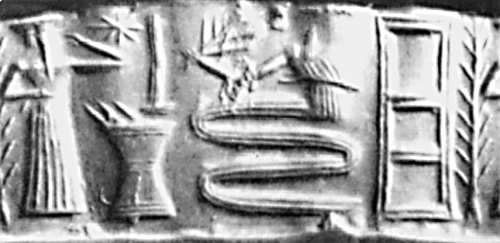"8c - Enki alarmed Noah by talking loudly from behind a reed wall, so his son Noah would hear him, Noah & his acting father Ubara-tutu, were early kings in Shuruppak, mixed-breed king Noah was was helped by his father Enki, & by the serpent god (Enki's son & DNA expert Ningishzidda?), preparing him for surviving the Flood, & save every ""clean"", non-hybrid, species of animals & plants"
