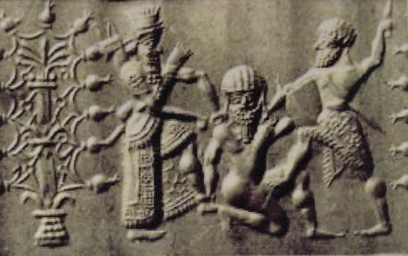 "7f - Enlil condemns Enkidu to death for killing Humbaba, from the tale ""Epic of Gilgamesh"",  SEE GILGAMESH TEXTS"