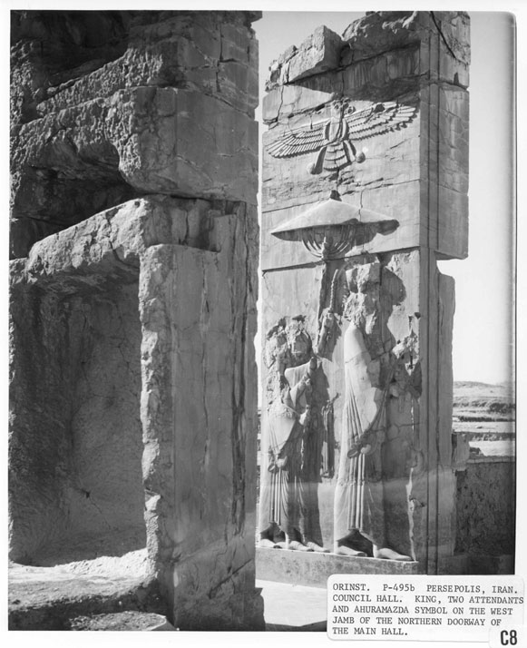 7q - Anunnaki giant alien god Ashur - Ahura-Mazda flying above his demi-god mixed-breed made king, wall relief artefact in Persepolis, Iran, artefacts of the alien gods & their giant mixed-breed offspring made into kings, are shamefully being destroyed by Radical Islam, attempting to eliminate ancient evidence that directly contradicts the 7th century A.D. doctrines of Islam