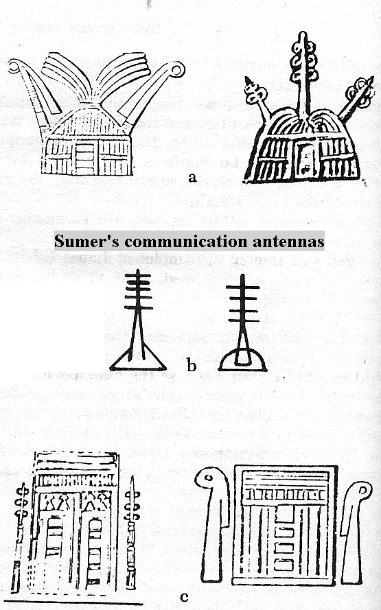 "8 - Sumer's communication towers, communications all around were established by the giant alien gods of Sumer, & Enlil's ""all seeing eyes scanning the land"""