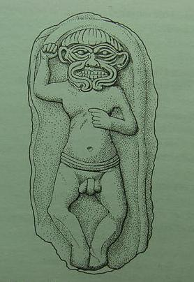 8a - Humbaba, Enlil's creation used to protect his residence in the cedar forest of Lebanon, killed by Enkidu & Gilgamesh